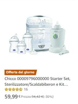 Chicco Starter Set, SterilizzatoreScaldabiberon e Kit Biberon
