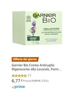 Garnier Bio Crema Antirughe Rigenerante alla Lavanda